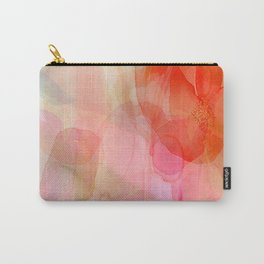 Fields of Wildflowers - red Carry-All Pouch