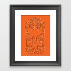 rebel x-wing fighter Polynesian tribal Framed Art Print