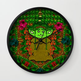 Gnomelorian stand for happy rights in natures color pop-art Wall Clock
