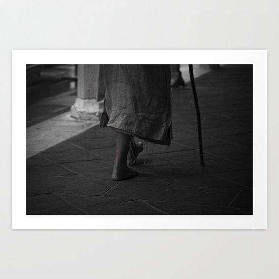 On foot Art Print