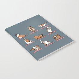 English Bulldog Yoga Notebook