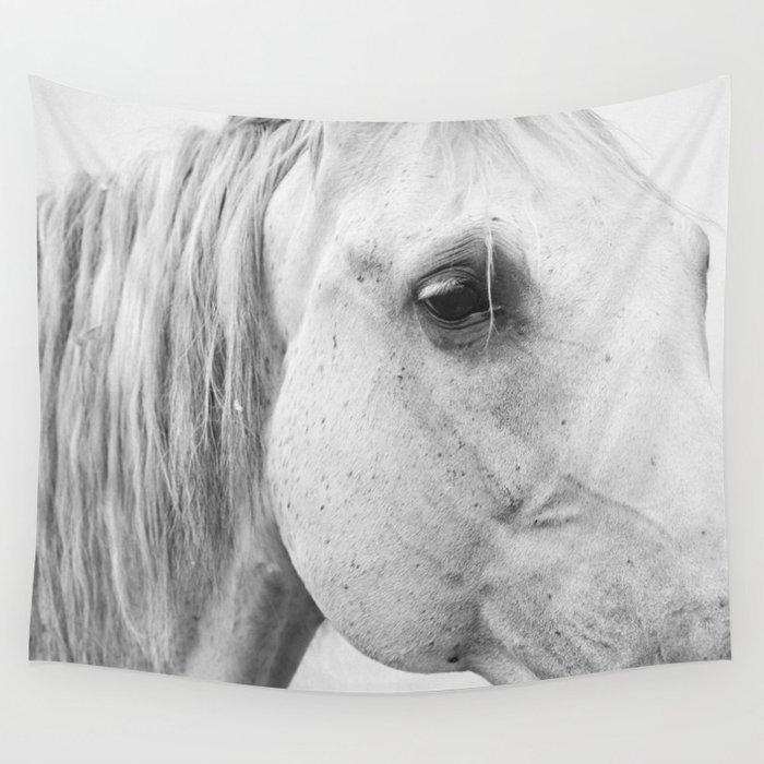Horse Photography   Wildlife Art   Farm animal   Horse Eye Closeup   Animal  Photography Wall Tapestry by wildhood
