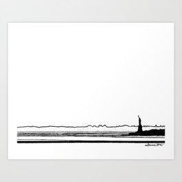 Lady Liberty Overlooking the Hudson Art Print