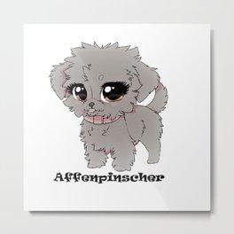 Affenpinscher Cuteness Metal Print