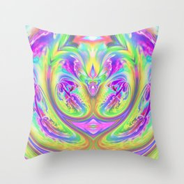 Psychedelic Alien Life Throw Pillow