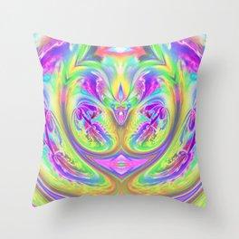 Psychedelic Alien Life Throw Pillow