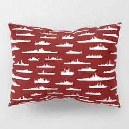 Battleship // Maroon Pillow Sham