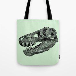 Jurassic Skull Tote Bag
