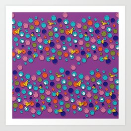Abstract geo shapes Art Print