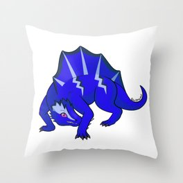Blue Dimetro Throw Pillow