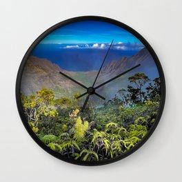 Kalalau Valley Na Pali Coast Kauai Wall Clock