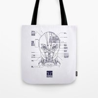 blueprint Tote Bags featuring Blueprint by CromMorc