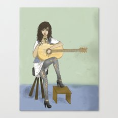 Now If Only I Could Play Guitar Canvas Print