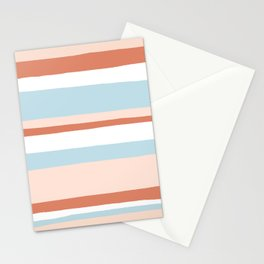 mesa, desert pastel stripes Stationery Cards