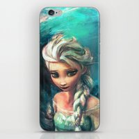 elsa iPhone & iPod Skins featuring The Storm Inside by Alice X. Zhang