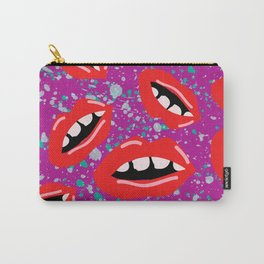 80's Lips Pattern Carry-All Pouch