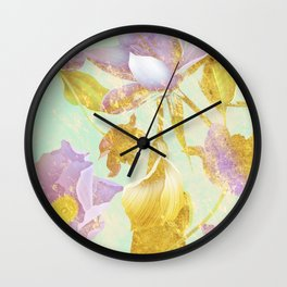 Flowers in My Dream #society6 #decor #art #lifestyle #fashion Wall Clock