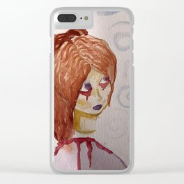 Dark Portrait Clear iPhone Case