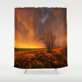 Fascinations - Warm Light and Rumbles of Thunder in Oklahoma Shower Curtain