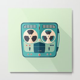 Reel to Reel Tape Recorder Metal Print