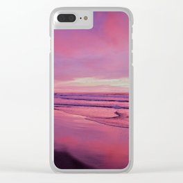 Pinks and Purples at Sunset Beachside by Reay of Light Photography Clear iPhone Case
