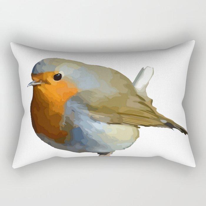 Red Robin Rectangular Pillow