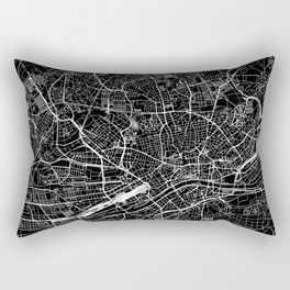 Frankfurt Black Map Rectangular Pillow