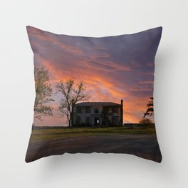 Old House at Sunset Throw Pillow