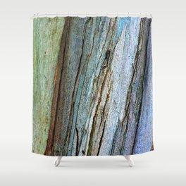 Colorful Eucalyptus Bark Shower Curtain