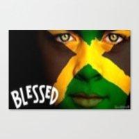 jamaica Canvas Prints featuring Jamaica Love  by GoodVybz