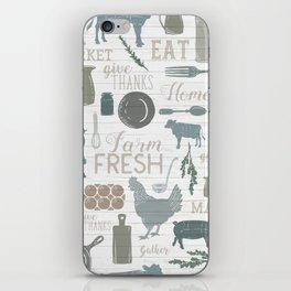 Modern Farmhouse // Gather Round & Give Thanks iPhone Skin