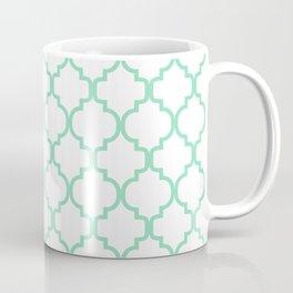 Moroccan Trellis (Mint & White Pattern) Coffee Mug