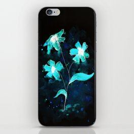 Abstraflowers (invert) iPhone Skin