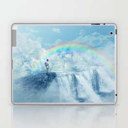 waterfall in the sky Laptop & iPad Skin