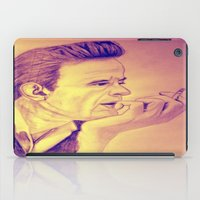 johnny cash iPad Cases featuring Johnny Cash Vintage by KOverbee
