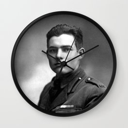 Ernest Hemingway in Uniform, 1918 Wall Clock