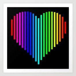 Techno Love Heart Art Print