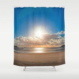 Jersey Coastal Sunset Shower Curtain