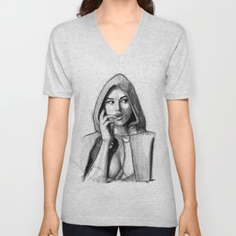Monica Bellucci - Little Red Riding Hood Unisex V-Neck