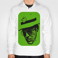 hunter s thompson Hoodies featuring Outlaws of Literature (Hunter S. Thompson) by Silvio Ledbetter