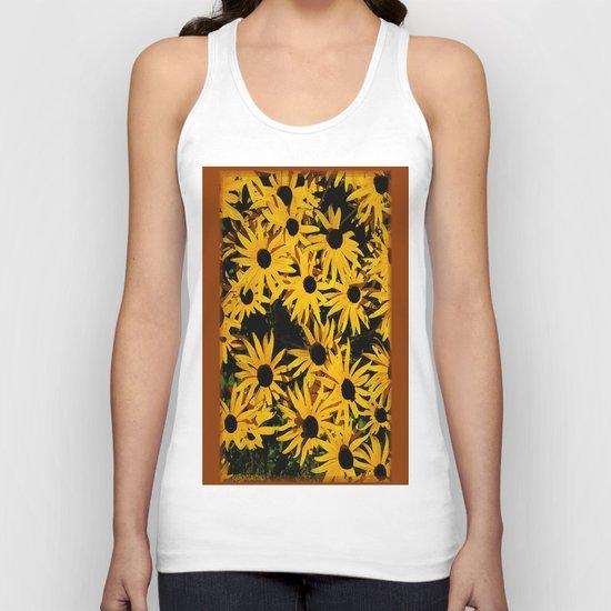 Sunshine Black Eyed Susan Flower Blossoms Unisex Tank Top