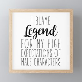 High Expectations - Legend Framed Mini Art Print