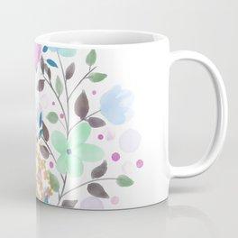 MINIMAL GREEN GOLD FLORAL MARBLE Coffee Mug