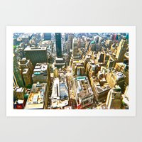 manhattan Art Prints featuring Manhattan by McLane O'Daniell