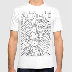 Unity  White Mens Fitted Tee MEDIUM