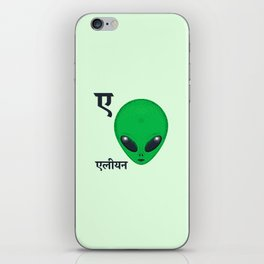 A for Alien iPhone Skin