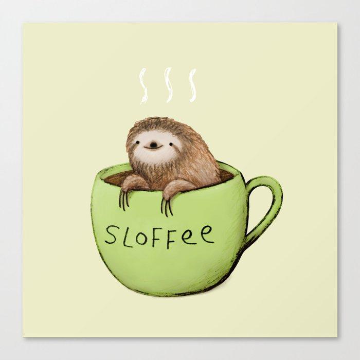 Sloffee Canvas Print