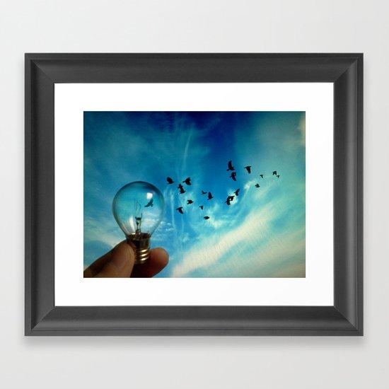 think different Framed Art Print