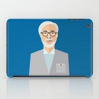 hayao miyazaki iPad Cases featuring Hayao Miyazaki by monscribbles