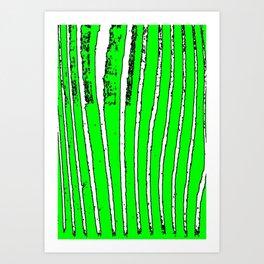 Green Seaweed Art Print